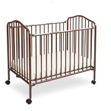 Mini Folding Crib La Baby Mini Portable Folding Metal Crib Chocolate Babies R Us