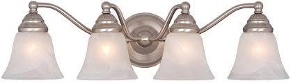brushed nickel bathroom lights brushed nickel bathroom light fixture attractive vaxcel vl35124bn