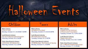 hallow ween mcallen public library news halloween events