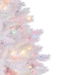white tree with colored lights decor