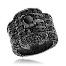 cartier rings jewelry images Hip hop jewelry 14k gold mens black diamond ring 20ctw jpg