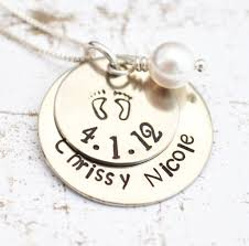 sterling silver personalized necklace images Mother necklace baby feet necklace personalized necklace gift jpg