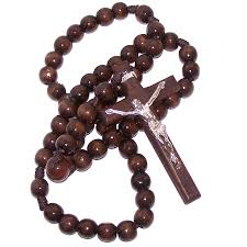 wooden rosaries brown wooden rosary 65 cm 26 inches limited