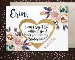 invitations for bridesmaids bridesmaid etsy