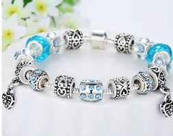 murano glass beads charm bracelet images European style silver crystal charm bracelet with blue murano jpg