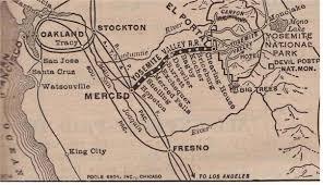 Yosemite Valley Map Yv