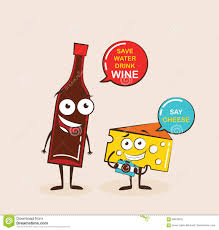 cheese emoji vector cartoons of comic characters bottle of wine and cheese