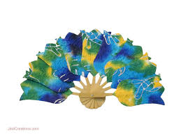 wholesale fans wholesale paper fans in batik shapes manufacturer artisans