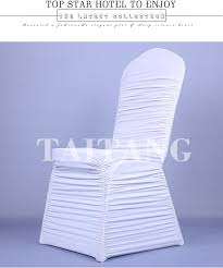 Cheap Wedding Chair Covers Cheap Wholesale Restaurant Elegant Ruffled Stretch Polyester