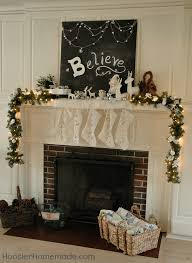 Images Of Mantels Decorated For Christmas Christmas Mantel Believe Hoosier Homemade