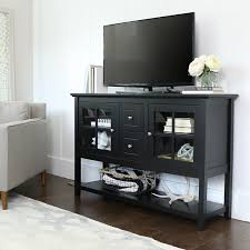 console table tv stand amazon com we furniture 52 console table wood tv stand console