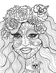 free sugar skull coloring pages coloring