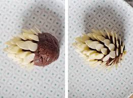 chocolate pinecone cake toppers lark u0026 linen