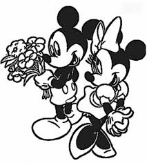 mickey and minnie mouse coloring pages cartoon coloring pages of