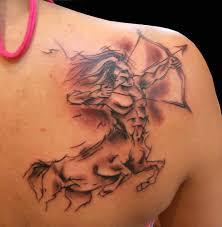 right back shoulder sagittarius tattoos