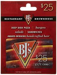 restaurant gift cards bj s restaurant gift card 25 gift cards