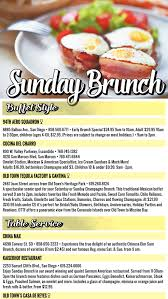 sunday brunch buffet style table service restaurants ads
