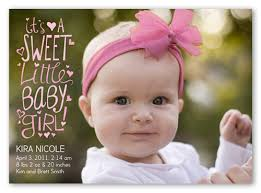 baby girl announcements sweet scribbles girl flat birth announcement card shutterfly