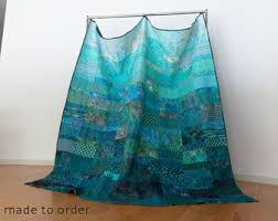 turquoise quilted coverlet king quilt etsy
