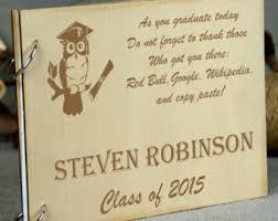 book for high school graduate graduation memory book autograph personalized book