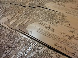 wooden wedding invitations engraved real alder wood wedding invitations 5 x 7 x 1 8