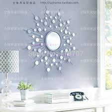 Metal wall mirror decor modern mirrored wall art wire wall art