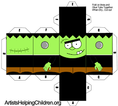 kids halloween clip art paper crafts templates paper toy craft for halloween free