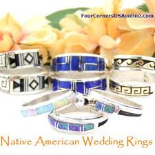 Native American Wedding Rings by Four Corners Usa Jewelry Southwest Turquoise Jewelry