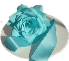Tiffany Blue Flowers Tiffany Blue Wedding Cake Flowers Wedding Decor Paper Flowers