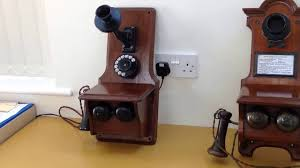 Old Fashioned Wall Mounted Phones British Gpo Antique Telephone Tel No1 The First Standard Vintage