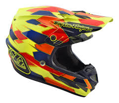 thor motocross helmet 2018 troy lee designs se4 comp mips motocross helmet maze yellow