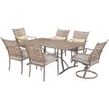Courtyard Creations Patio Furniture by Courtyard Creations Melrosa 7 Pc Hand Painted Dining Set Patio
