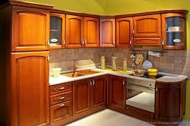 Kitchen Wooden Cabinets Kitchen Kitchen Cabinets Traditional Medium Wood Golden Brown