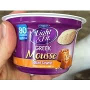 dannon light and fit greek dannon light fit greek mousse salted caramel flavored calories