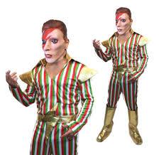 Ziggy Stardust Halloween Costume Ziggy Stardust Costume 70s David Bowie Mens Pop Star Fancy