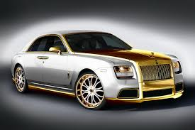 expensive cars gold rr ghost