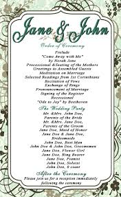 downloadable wedding programs wedding programs templates page 2 free downloadable wedding