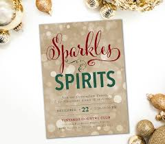 holiday sparkles u0026 spirits invitation cocktail christmas party
