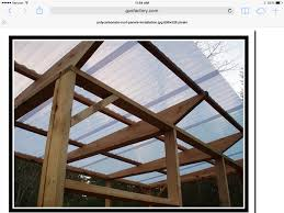 Outdoor Fabric For Pergola Roof by Polycarbonate Roof Panels On Pergola The Pergola Project