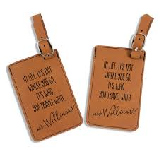 Leatherette mr mrs luggage tags it 39 s who you travel with