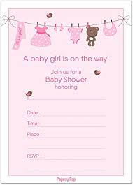baby girl baby shower invitations 30 baby shower invitations girl with envelopes