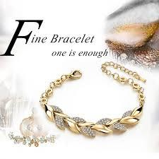 bracelet luxury crystal images Toucheart braided gold color leaf bracelets bangles with stones jpeg