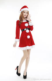 santa costumes christmas party santa costume women sleeve mini