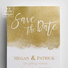 save the date template printable save the date template gold foil save the date design