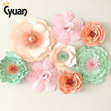 wedding backdrop accessories cyuan 2pcs diy flower paper backdrop wedding decoration