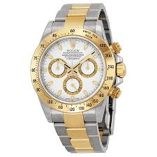 rolex white gold oyster bracelet images Rolex cosmograph daytona white dial stainless steel and 18k yellow jpg