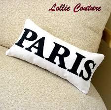 personalized pillows love paris mrs kisses home decor