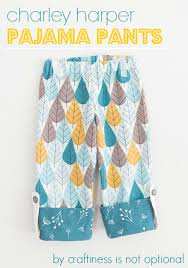 pattern pajama pants pj pant tutorial for birch fabrics with free one size pattern