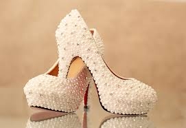 wedding shoes chunky heel 10cm chunky heel closed toe with sequins pearl wedding bridal