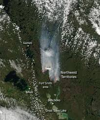 Wildfire Map Of Canada by Fires In The Northwest Territories Of Canada Nasa